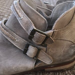 Free People Leather Desert Booties